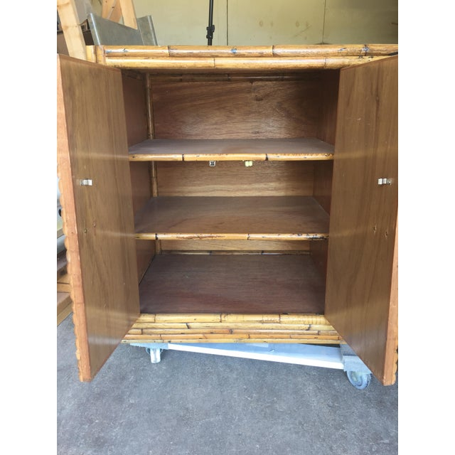 Vintage Split Bamboo Display Cabinet For Sale In Saint Louis - Image 6 of 11