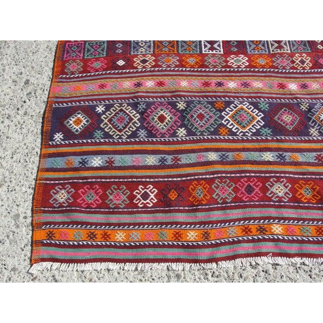 Vintage Turkish Kilim Rug - 4′12″ × 7′9″ For Sale - Image 9 of 11