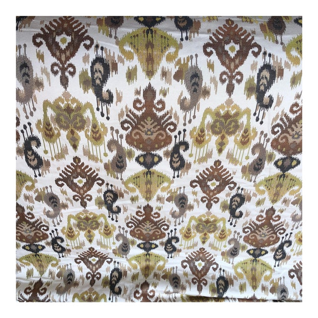 Ikat Woven Fabric - 7 Yards For Sale