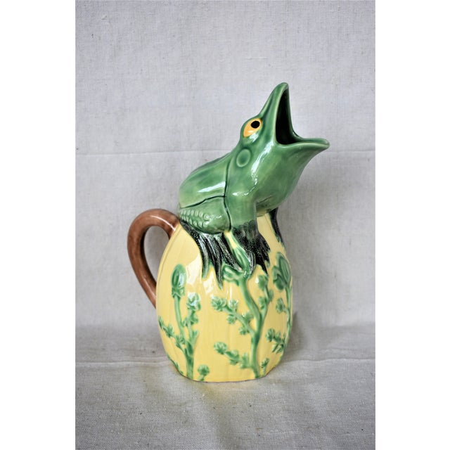 1990s Vintage Frog Pitcher For Sale - Image 5 of 7