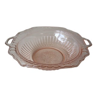 Vintage Pink Depression Glass Blowl