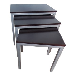 Modern Style Nesting Tables - Set of 3 For Sale