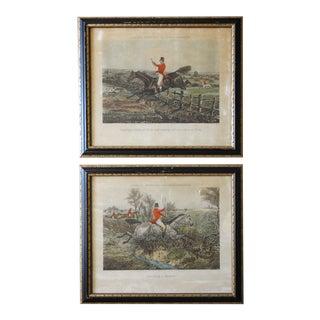 1850 English Equestrian Aquatints For Sale