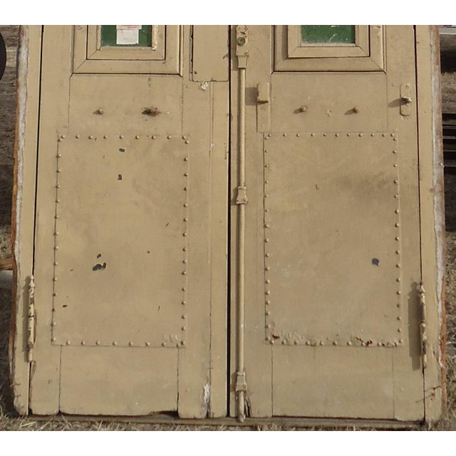 Wood Antique Ornate South American Doors - A Pair For Sale - Image 7 of 11