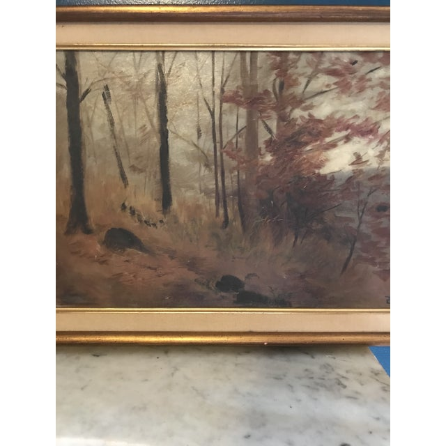 Realism 1910s Original Signed and Dated (1910) Oil Landscape Painting For Sale - Image 3 of 5
