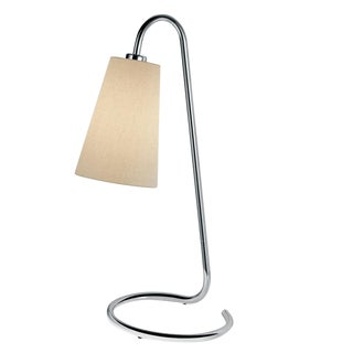 Scroll Polished Chrome Table Lamp For Sale