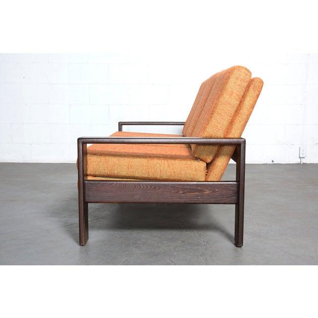 Wenge Modern 1970's Three-Seater Sofa - Image 4 of 11