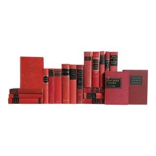 Black on Red - Set of Twenty Decorative Books For Sale