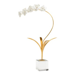 Chelsea House White Porcelian Orchid For Sale