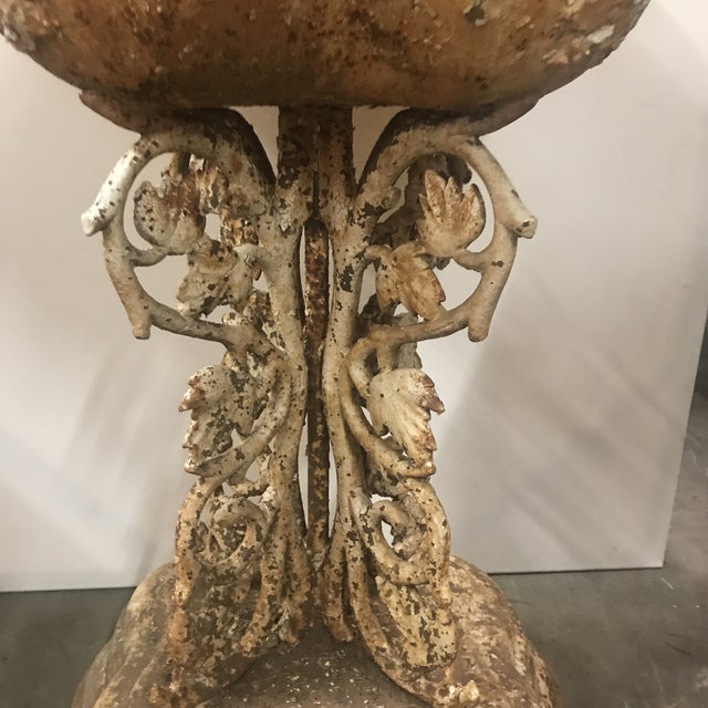 Victorian Late 19th Century Vintage Cast Iron Planter For Sale - Image 3 of 6
