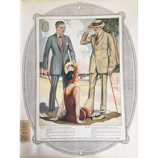 1923 Tailor's Summer Fashion Print For Sale