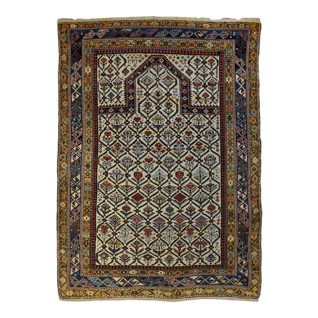 Antique Caucasian Marasali Shirvan Prayer Rug For Sale