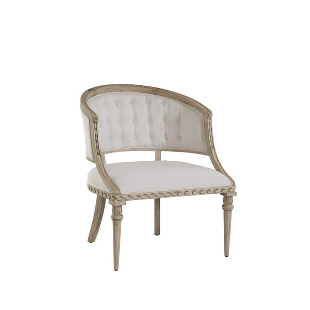 Swedish Occasional Chair, SC0040 Wave Rim Design Copy of original except scale enlarged. Hand carved detail overall. Hand...