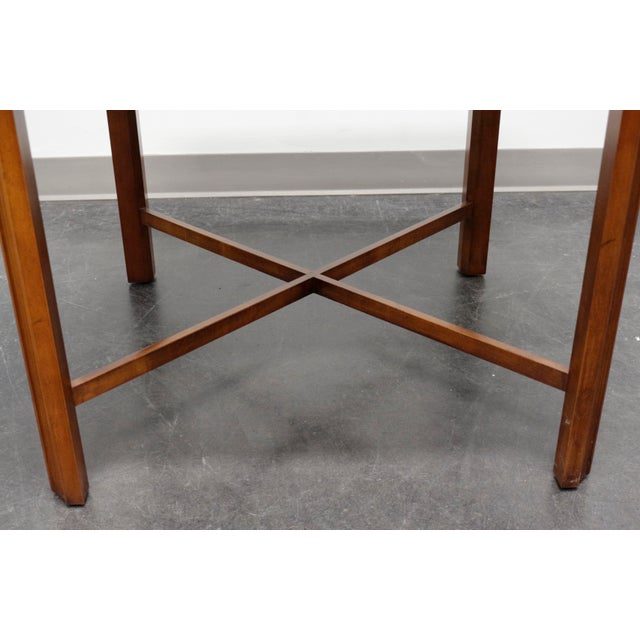 Brown Drexel Heritage Yorkshire Yew Wood Chippendale Accent Table For Sale - Image 8 of 9