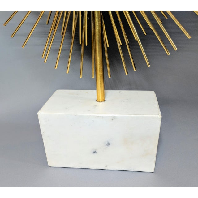 Glass Modernist Starburst Tabletop Mirror Sculpture For Sale - Image 7 of 10