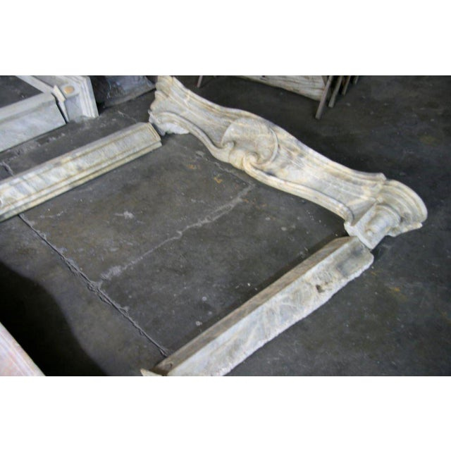 Gray 19th C. Italian Marble Fireplace For Sale - Image 8 of 11