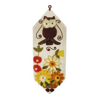 Mid Century Owl Yarn Wall Hanging