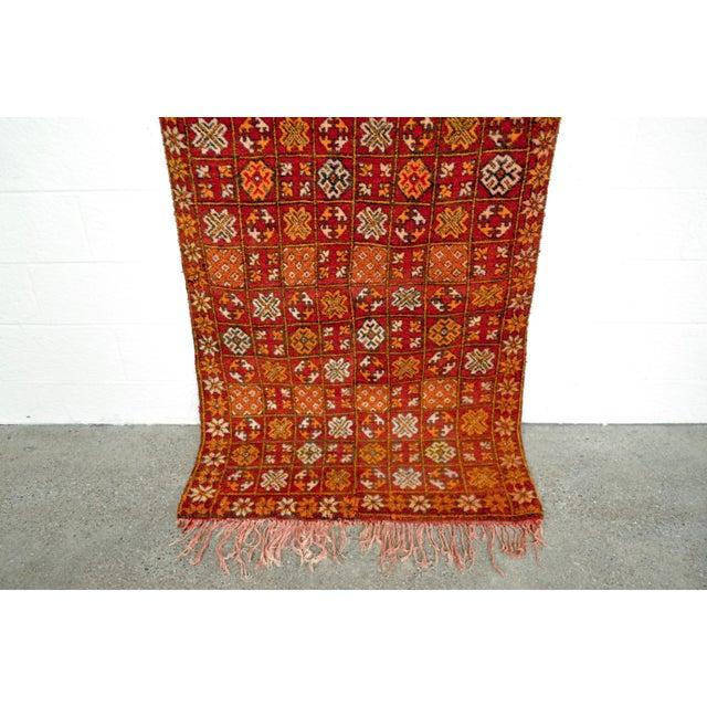 "Vintage Moroccan Boujad Floor Rug Runner - 3'3"" x 8'5"" For Sale - Image 4 of 10"