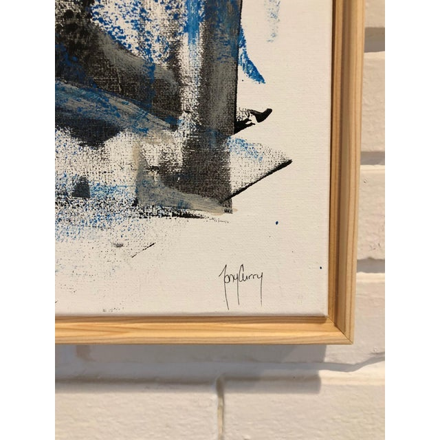 """Unique Original Abstract Painting on canvas by Tony Curry. Professionally framed in a modern wooden frame. Size:16x20""""...."""