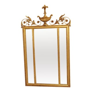 1980s Neoclassical LaBarge Ornate Style Mirror For Sale