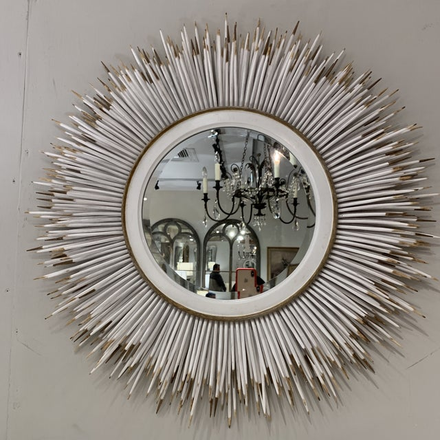 Hollywood Regency Faux Porcupine Mirror For Sale - Image 9 of 13