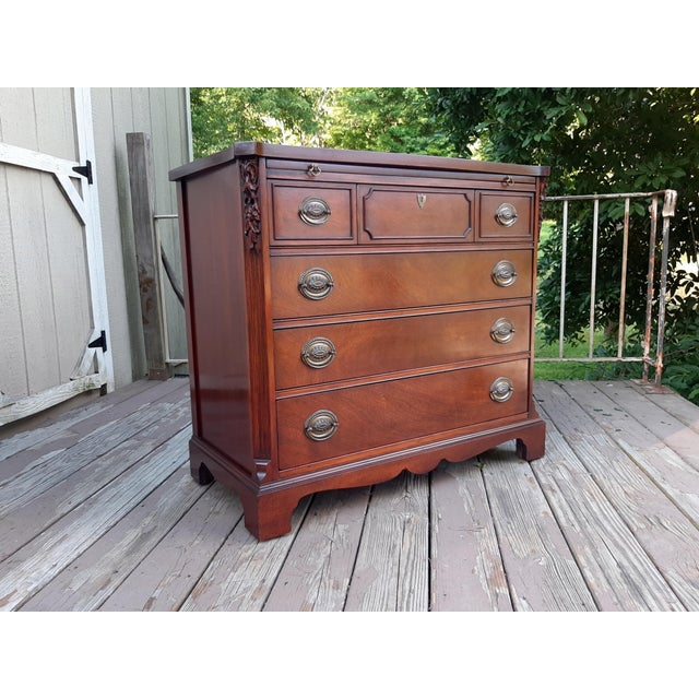Vintage 1940's Mahogany 4 Drawer Server Accent Chest For Sale - Image 13 of 13