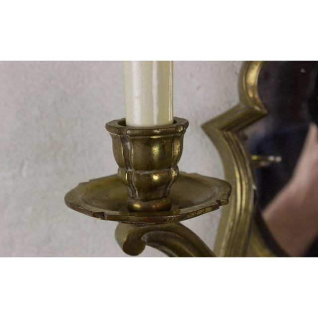 Bronze Pair of French Gilt Bronze Sconces For Sale - Image 7 of 10