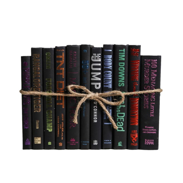 Modern Electric ColorPak : Decorative Books in Black With Colorful Metallic Accents For Sale