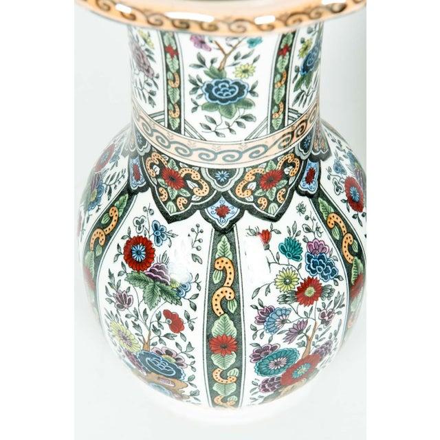 Ceramic Vintage Porcelain Dutch Vases - a Pair For Sale - Image 7 of 13