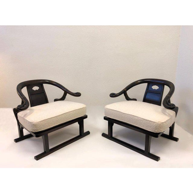 1960s Michael Taylor for Baker Walnut Lounge Chairs - a Pair For Sale - Image 5 of 11