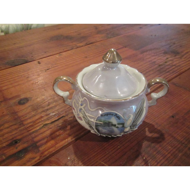 Vintage Honeymoon Niagra Falls Cream & Sugar Set - A Pair For Sale - Image 4 of 11