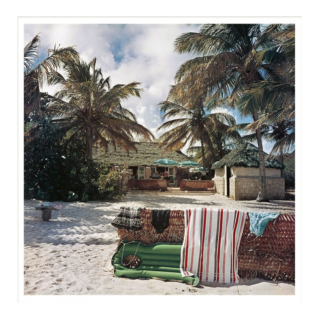 """Slim Aarons, """"Antigua Beach Club,"""" January 1, 1960 Getty Images Gallery Framed Art Print For Sale"""