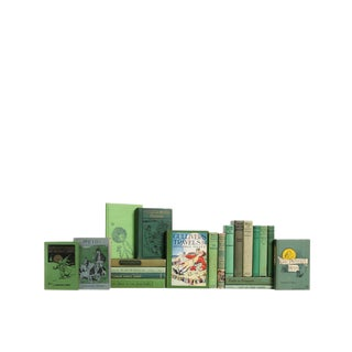 Stories for Boys & Girls in Apple Green - Set of Twenty Decorative Books