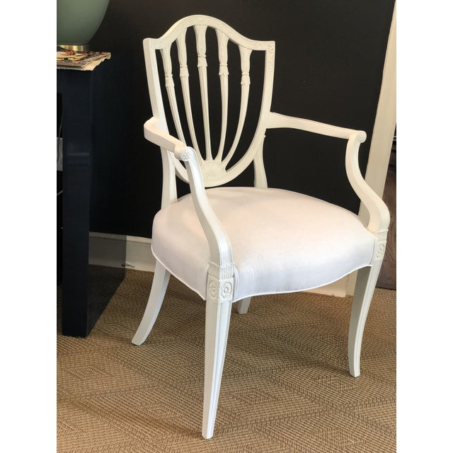 1930s 1930s Hepplewhite Shield-Back Chairs — a Pair For Sale - Image 5 of 10