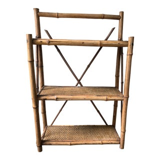 Early 20th Century Bamboo Hanging Shelf For Sale