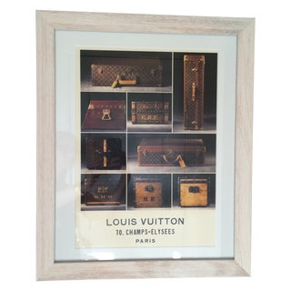 Louis Vuitton Framed Luggage Print from Paris