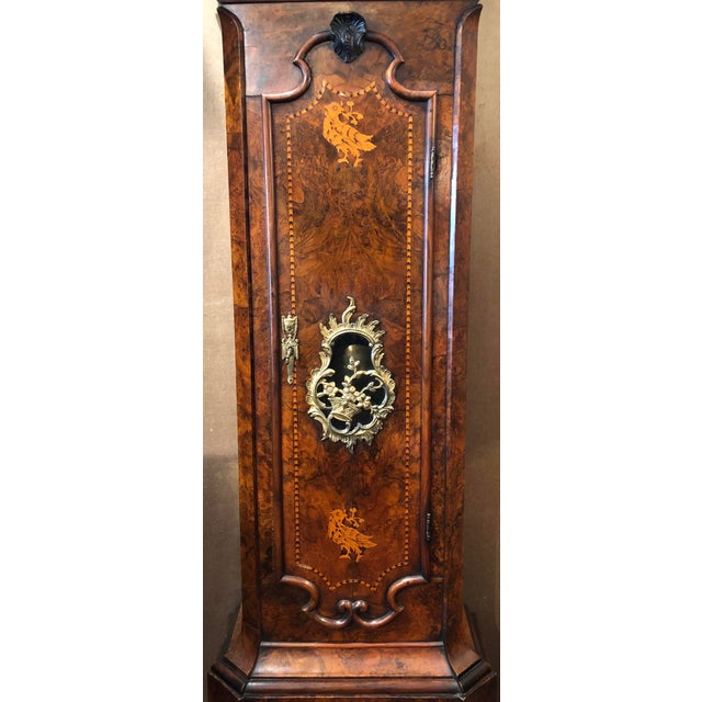 Antique 18th Century Dutch Marquetry Tall Case Clock by Maker, j.p. Kroese. For Sale - Image 4 of 5