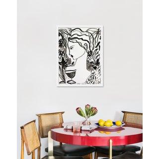 "Medium ""Flowers and Wine in Black"" Print by Leslie Weaver, 19"" X 25"" Preview"