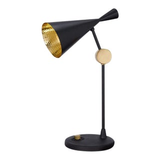 Tom Dixon Beat Table Lamp in Black For Sale