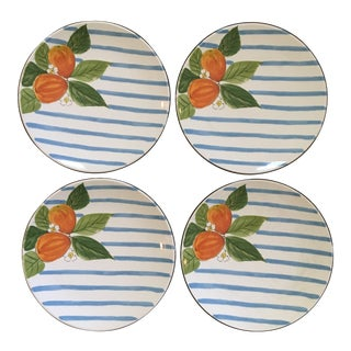 1990's Mikasa Japan Sunshine Harvest, Dessert Plates - Set of 4