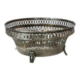 Image of 20th Century Traditional Silver Basket For Sale