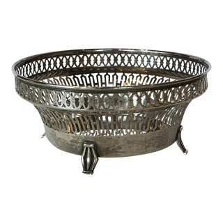 20th Century Traditional Silver Basket For Sale