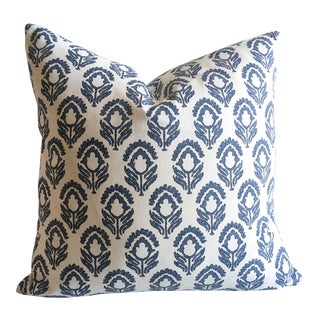 Blue and White Les Indiennes Pillow