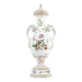 Antique Tall Porcelain Urn/Decorative Piece For Sale