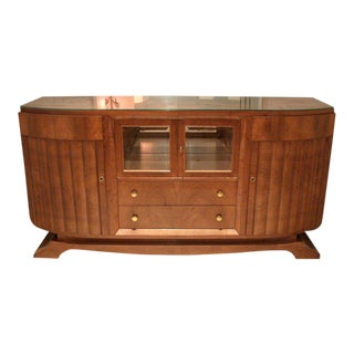 1930s French Mahogany Sideboard For Sale