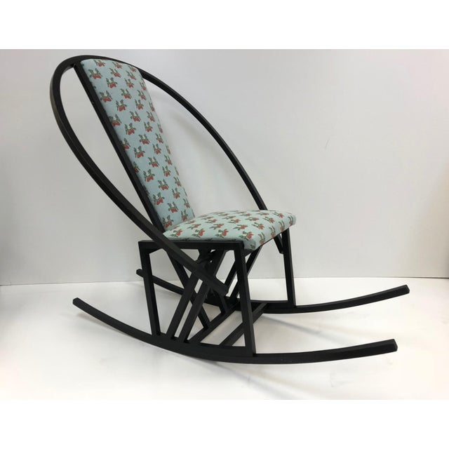 Wood Unique Japanese Rocking Chair For Sale - Image 7 of 7