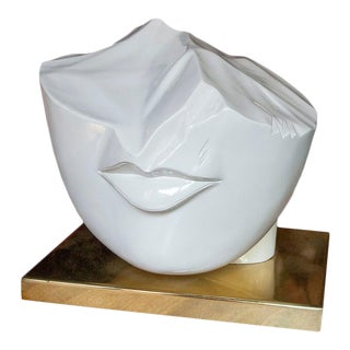 Overscale Contemporary Lips Scuplture For Sale