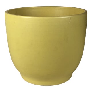 Vintage Canary Yellow Gainey Planter For Sale