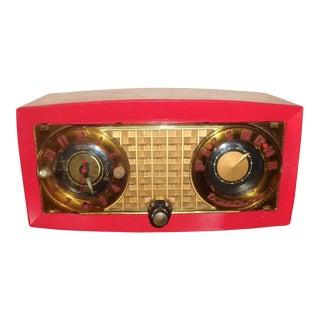 1954 Antique Art Deco Truetone Clock Radio For Sale