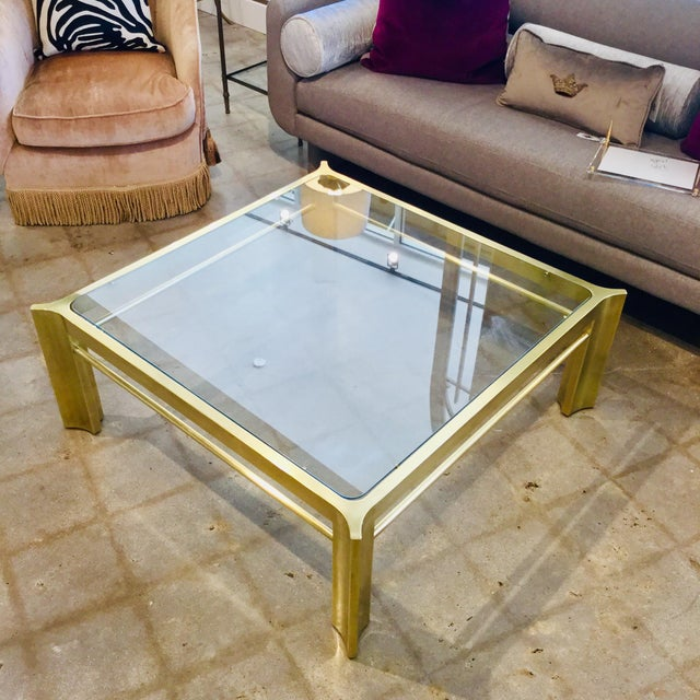 Mid-Century Modern Mid-Century Modern Square Mastercraft Coffee Table For Sale - Image 3 of 7